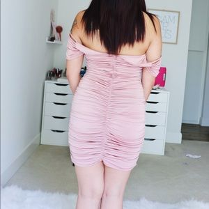Dresses - NEW Shirred Pink Party Dress